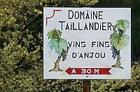 Europe/France/Pays de la Loire/49/Maine-et-Loire/Savennières: Enseigne d'un viticulteur