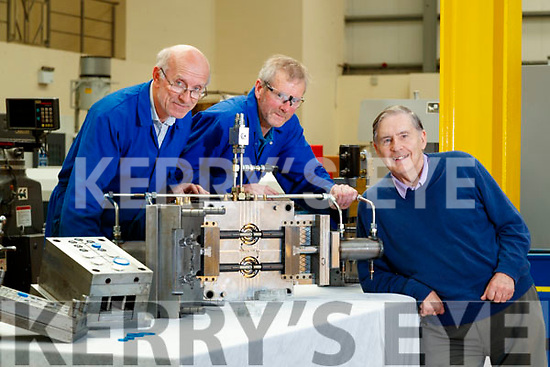 John McCarthy and Tom McMahon and Ned Harty at Dairymaster, Causeway.