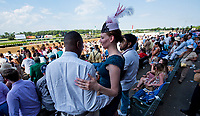 ELMONT, NY - JUNE 10: Fans wait for the race to begin on Belmont Stakes Day at Belmont Park on June 10, 2017 in Elmont, New York (Photo by Scott Serio/Eclipse Sportswire/Getty Images)