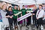ITT students who organised Recfest Rosie Brown, Lisa O'Mahony, Joe Monaghan and Dale Brosnan with Sarah Leahy , Mary Rose Cantillon, and Tom O'Connor and Grace Boyle, at Recfest on Abbey Street on Thursday