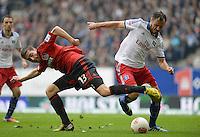 FUSSBALL   1. BUNDESLIGA   SAISON 2012/2013    34. SPIELTAG Hamburger SV - Bayer 04 Leverkusen                      18.05.2013 Jens Hegeler (li, Bayer 04 Leverkusen) gegen Heiko Westermann (re, Hamburger SV)