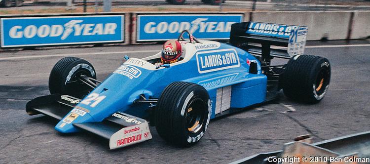Alex Caffi, Osella FA1I, Detroit 1987