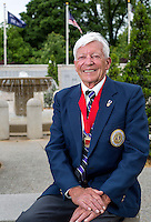 NWA Democrat-Gazette/JASON IVESTER --05/15/2015--<br /> E.S. &ldquo;Vess&rdquo; Lawbaugh; photographed on Friday, May 15, 2015, at the Veterans Wall of Honor in Bella Vista