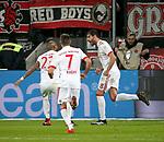 12.01.2018, Bay - Arena, Leverkusen, GER, 1.FBL, Bayer 04 Leverkusen vs FC Bayern M&uuml;nchen<br /> , im Bild<br />Javi Mart&iacute;nez (M&uuml;nchen) freut sich &uuml;ber sein Tor zum 1:0<br /> Foto &copy; nordphoto / Bratic