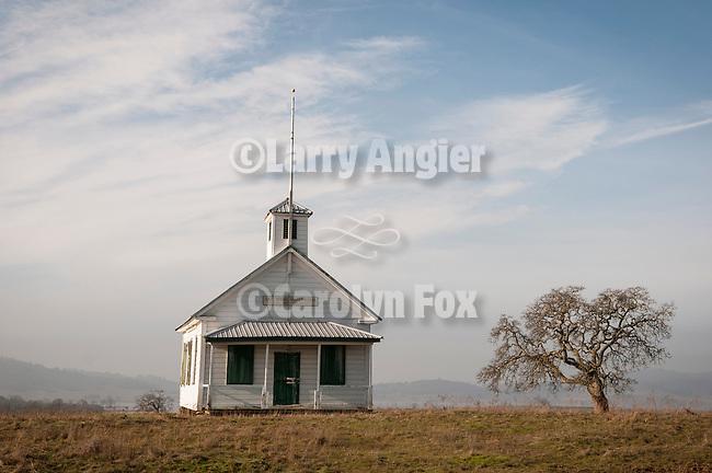 Historic white one-room school house, Salt Spring Valley, Calif.