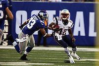 RB Jeff Demps (Patriots) gegen CB Dante Hughes (Giants)