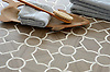 Chatham 3, a waterjet stone mosaic shown in Driftwood and Calacatta Tia, is part of the Silk Road® collection by New Ravenna.