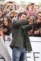 Actor Hugo Silva arrives to Maria Cristina hotel, posses and signs autographs during the 61 San Sebastian Film Festival, in San Sebastian, Spain. September 21, 2013. (ALTERPHOTOS/Victor Blanco) /NortePhoto