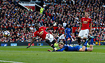 Tom Davies of Everton goes close to scoring during the premier league match at the Old Trafford Stadium, Manchester. Picture date 17th September 2017. Picture credit should read: Simon Bellis/Sportimage