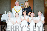 2nd class pupils from Ballincrossig NS, Ballyduff who received their First Holy Communion last Saturday in St Peter&St Pauls church Ballyduff were Maggie Walsh, Tia-Linh Dennehy, Sara O'Connor, Cara Reilly and Sarah Slattery. Fr Brendan Walsh was the priest and their teacher is Aislí Ni Chonchúir.