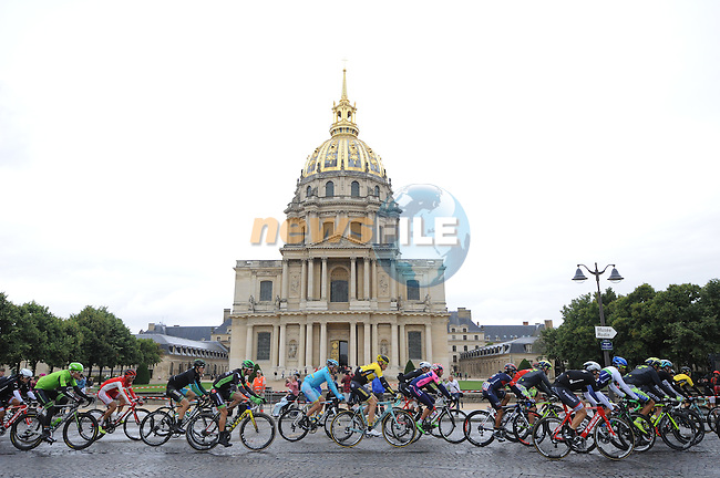 Riders pass Les Invalides in Paris during Stage 21 of the 2015 Tour de France running 109.5km from Sevres to Paris - Champs Elysees, France. 26th July 2015.<br /> Photo: ASO/B.Bade/Newsfile