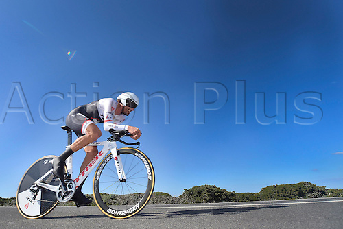 19.02.2016. Sagres, Portual.  CANCELLARA Fabian (SUI) Rider of TREK - SEGAFREDO in action during stage 3 of the 42nd Tour of Algarve cycling race, an individual time trial of 18km, with start and finish in Sagres on February 19, 2016 in Sagres, Portugal.