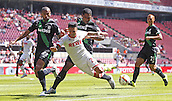 01.08.2015. RheinEnergieStadion, Cologne, Germany.  Colognes Leonardo Bittencourt Court against Dionatan Teixeira during the Colonia Cup 2015 between  FC Cologne and Stoke City FC