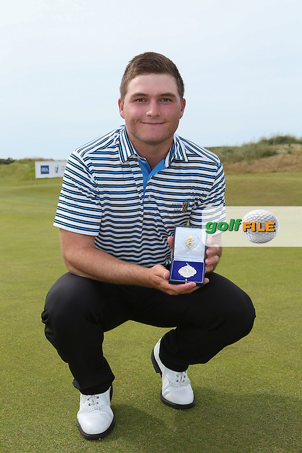 Zander Lombard (South Africa) with his silver medal at The Amateur Championship 2014 from Royal Portrush Golf Club, Portrush, Northern Ireland. Picture:  David Lloyd / www.golffile.ie