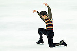 TAIPEI, TAIWAN - JANUARY 24:  Takahito Mura of Japan performs his routine at the Men Free Skating event during the Four Continents Figure Skating Championships on January 24, 2014 in Taipei, Taiwan.  Photo by Victor Fraile / Power Sport Images *** Local Caption *** Takahito Mura