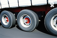 Lorry, close-up of wheels (blurred motion) (Licence this image exclusively with Getty: http://www.gettyimages.com/detail/200339727-001 )