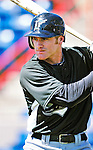 8 March 2010: Florida Marlins' outfielder Kevin Mattison awaits his turn in the batting cage prior to a Spring Training game against the Washington Nationals at Space Coast Stadium in Viera, Florida. The Marlins defeated the Nationals 12-2 in Grapefruit League action. Mandatory Credit: Ed Wolfstein Photo
