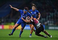 28th December 2019; Twickenham, London, England; Big Game 12 Womens Rugby, Harlequins versus Leinster; Giada Franco of Harlequins tackles Lindsay Peat of Leinster - Editorial Use