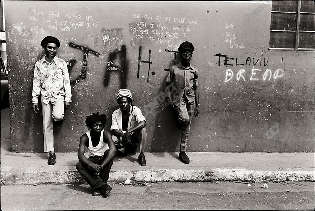 Hanging out in Trench Town. Kingston, Jamaica. March 1976