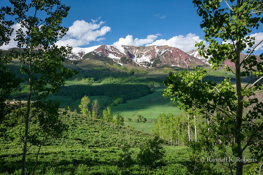 Gothic Road view, Elk Mountains, Colorado
