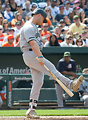 New York Yankees designated hitter Matt Holliday (17) reacts after being called out on a checked-swing third strike  to end the top of the eighth inning against the Baltimore Orioles at Oriole Park at Camden Yards in Baltimore, MD on Monday, May 29, 2017.  The Orioles won the game 3 - 2.<br /> Credit: Ron Sachs / CNP<br /> (RESTRICTION: NO New York or New Jersey Newspapers or newspapers within a 75 mile radius of New York City)