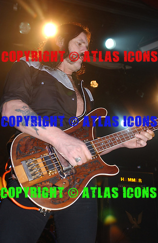 "MOTORHEAD: Ian ""Lemmy"" Kilmister: LIVE: New York City: 2002:.Photo Credit: Eddie Malluk/Atlas Icons.com"