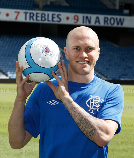 Nicky Law at Ibrox as he signs a three year deal with Rangers