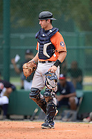 Houston Astros catcher Jamie Ritchie (44) during an Instructional League game against the Atlanta Braves on September 22, 2014 at the ESPN Wide World of Sports Complex in Kissimmee, Florida.  (Mike Janes/Four Seam Images)