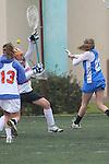 Santa Barbara, CA 02/19/11 - Kelley McCarroll-Gilbert (UCLA #23) and Marissa Higgins (Florida #21) in action during the UCLA-Florida game at the 2011 Santa Barbara Shootout.