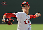 Photo of the Greenville Drive in a game against the Rome Braves on July 6, 2012, at Fluor Field at the West End in Greenville, South Carolina. (Tom Priddy/Four Seam Images)
