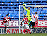Bolton Wanderers' Ben Alnwick saves<br /> <br /> Photographer Andrew Kearns/CameraSport<br /> <br /> The EFL Sky Bet Championship - Bolton Wanderers v Bristol City - Saturday August 11th 2018 - University of Bolton Stadium - Bolton<br /> <br /> World Copyright &copy; 2018 CameraSport. All rights reserved. 43 Linden Ave. Countesthorpe. Leicester. England. LE8 5PG - Tel: +44 (0) 116 277 4147 - admin@camerasport.com - www.camerasport.com