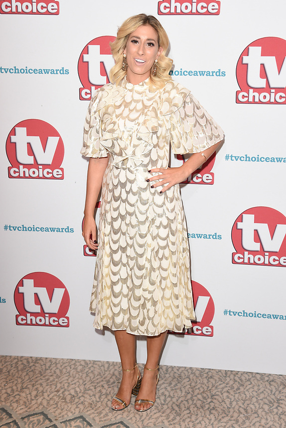 Stacey Solomon<br /> arriving for the TV Choice Awards 2017 at The Dorchester Hotel, London. <br /> <br /> <br /> ©Ash Knotek  D3303  04/09/2017