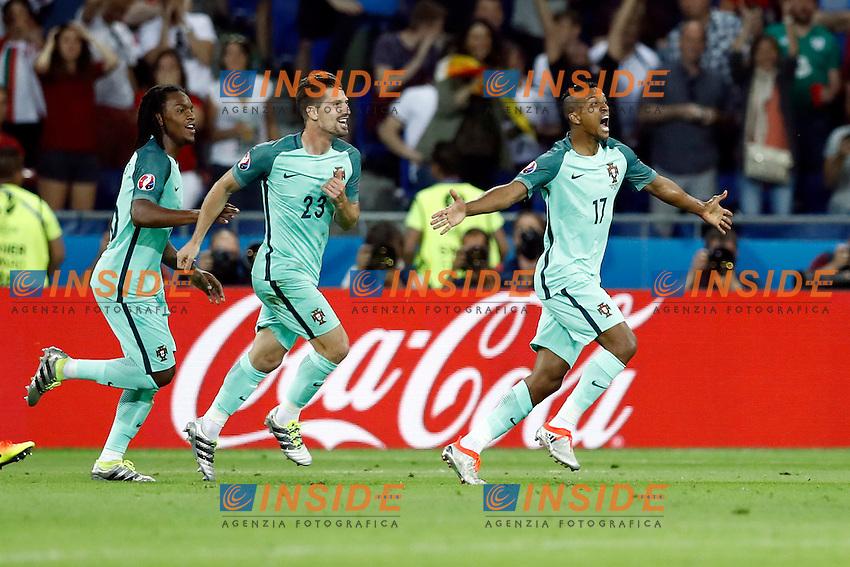 Esultanza gol Goal celebration Portugal<br /> Lyon 06-07-2016 Stade de Lyon Football Euro2016 Portugal - Wales / Portogallo - Galles Semi-finals / Semifinali <br /> Foto Matteo Ciambelli / Insidefoto