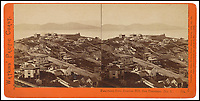 BNPS.co.uk (01202 558833)<br /> Pic: Bonhams/BNPS<br /> <br /> Panorama from Russian Hill.<br /> <br /> A stunning collection of photos of San Francisco in the 1860s have been unearthed after 150 years.<br /> <br /> The fascinating images show the distinctive street scenes of the city 70 years before the iconic Golden Gate Bridge became its most celebrated landmark and 50 years before the infamous Alcatraz prison was built.<br /> <br /> Included in the collection of 247 images are photos of the Golden Gate, Alcatraz, Russian Hill, the Waterfront and Woodward's Gardens.<br /> <br /> The city which is universally known for its treacherously steep hills and spectacular scenery was captured in all its glory by American photographer Carleton E. Watkins.