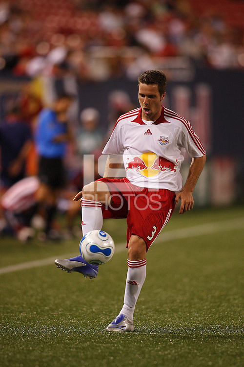 New York Red Bulls defender (3) Hunter Freeman. CD Chivas USA defeated the New York Red Bulls 2-0 in an MLS regular season match at Giants Stadium, East Rutherford, NJ, on July 26, 2007.