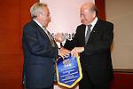 Joseph Sepp Blatter con Candido Cannavò Cannavò, Premio Facchetti 2007 © Fulvia Farassino