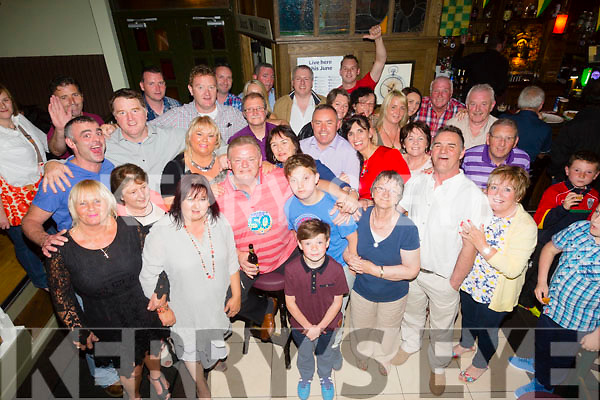 Patrick O'Shea from Lowercannon Tralee celebrating his 50th birthday with family and friends at the Brogue Inn on Friday night