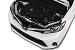 Car stock 2018 Toyota Sienna XLE 5 Door Mini Van engine high angle detail view