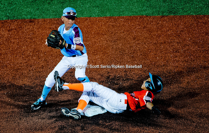 July 24, 2015 : Scenes from the Opening Night matchup between Mid-Atlantic and Harford County during the Cal Ripken World Series at the Ripken Experience powered by Under Armour in Aberdeen, Maryland. Scott Serio/Ripken Baseball/CSM