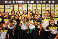 Jogadoras da seleção brasileira feminina de vôlei, durante entrevista coletiva nesta SEGUNDA-FEIRA (13)  no Hotel Marriot Guarulhos.FOTO ALE VIANNA/BRAZIL PHOTO PRESS