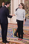 Queen Letizia of Spain receives the `Un juguete, una ilusion´ XV edition representatives at Palacio de la Zarzuela in Madrid, Spain. November 03, 2014. (ALTERPHOTOS/Victor Blanco)