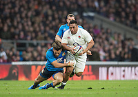 Twickenham, United Kingdom.  Mako VUNIPOLA, running with the ball, during the  6 Nations International Rugby Match, England vs Italy at the RFU Stadium, Twickenham, England, <br /> <br /> Sunday  26/02/2017<br /> <br /> [Mandatory Credit; Peter Spurrier/Intersport-images]