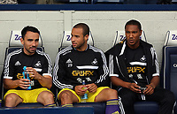 Pictured: (L-R) Leon Britton, Jazz Richards, Jonathan de Guzman.<br />