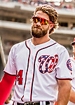 8 July 2017: Washington Nationals outfielder Bryce Harper awaits the start of play prior to a game against the Atlanta Braves at Nationals Park in Washington, DC. The Braves shut out the Nationals 13-0 to take the third game of their 4-game series. Mandatory Credit: Ed Wolfstein Photo *** RAW (NEF) Image File Available ***