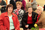 Lillian O'Neill, Susan Greene, Cora Kinsella and Sarah Murray.at the 20th Anniversary of the lifestyle development group..Picture Fran Caffrey www.newsfile.ie