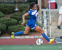 In a National Women's Soccer League Elite (NWSL) match, the Boston Breakers defeated the FC Kansas City, 1-0, at Dilboy Stadium on August 10, 2013.  Boston Breakers forward Sydney Leroux (2).