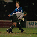 13/12/03          Copyright Pic : James Stewart.File Name : stewart009-ayr v st john.LUDOVIC ROY SAVES FROM SIMON DONNELLY.....Payment should be made to :-.James Stewart Photo Agency, 19 Carronlea Drive, Falkirk. FK2 8DN      Vat Reg No. 607 6932 25.Office     : +44 (0)1324 570906     .Mobile  : +44 (0)7721 416997.Fax         :  +44 (0)1324 570906.E-mail  :  jim@jspa.co.uk.If you require further information then contact Jim Stewart on any of the numbers above.........