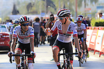 The peloton including Fabio Aru (ITA) UAE Team Emirates cross the finish line at the end of Stage 2 of La Vuelta 2019 running 199.6km from Benidorm to Calpe, Spain. 25th August 2019.<br /> Picture: Eoin Clarke | Cyclefile<br /> <br /> All photos usage must carry mandatory copyright credit (© Cyclefile | Eoin Clarke)