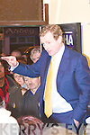 Fine Gael leader Enda Kenny address the troops in the campaign office of John Sheahan last Wednesday night in Abbeyfeale.