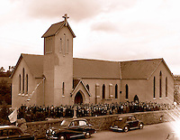 Baraduff church opening in the 1950's.<br /> Picture: macmonagle archive<br /> e: info@macmonagle.com